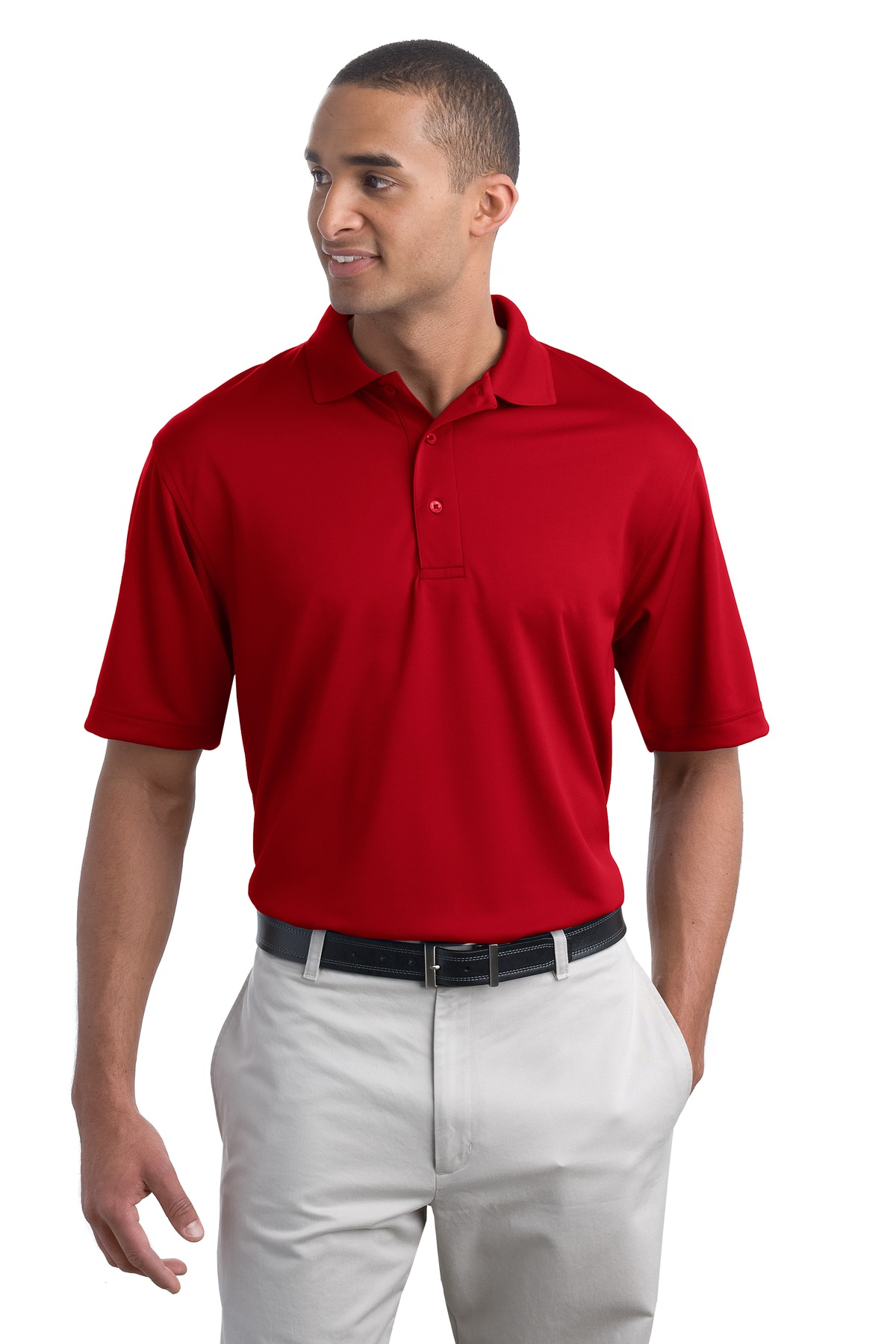 Port Authority Mens Poly Bamboo Blend Pique Polo
